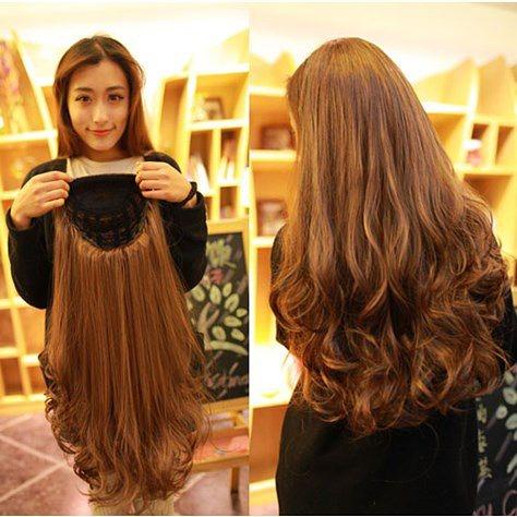 Полу парик из натуральных волос